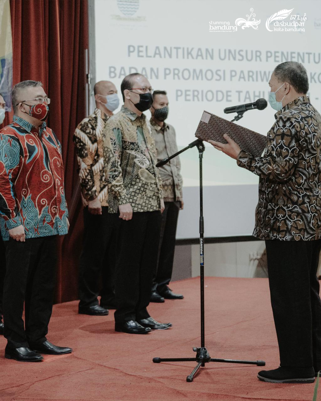 Pelantikan Unsur Penentu Kebijakan Badan Promosi Pariwisata Kota Bandung Periode 2021-2025