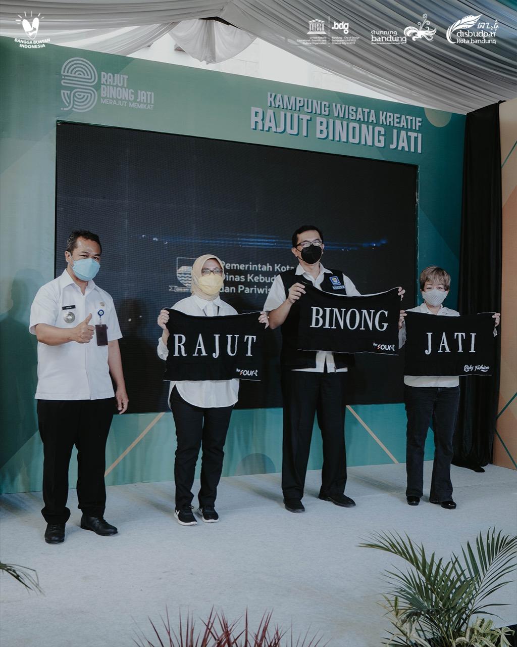 Peresmian Launching Aktivasi Kampung Wisata Kreatif Rajut Binong Jati